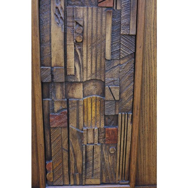 "Lane ""Pueblo"" Brutalist Armoire/Dresser - Image 9 of 10"