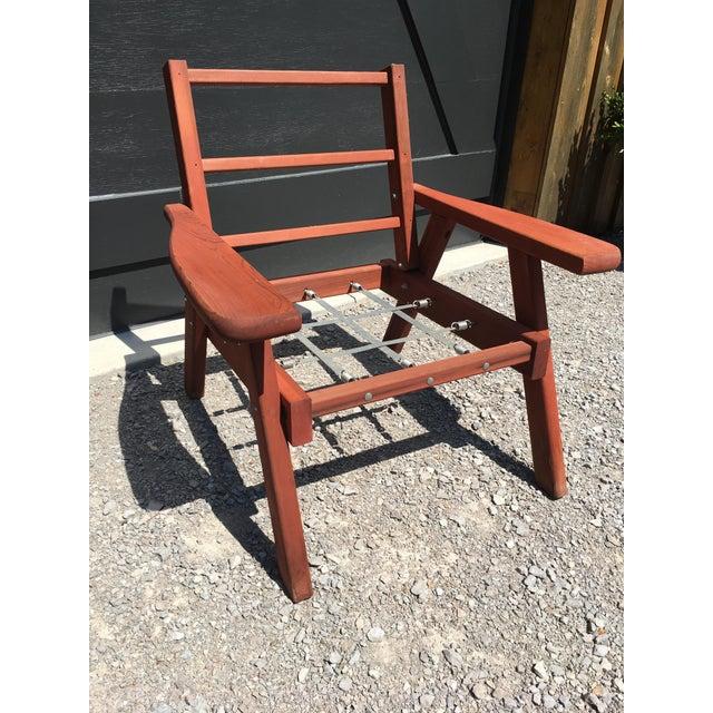 Mid Century Garden Redwood Patio Set Chairish