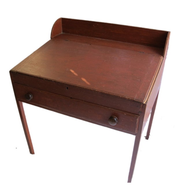 Original Red Painted Schoolmaster's Desk - Image 1 of 9