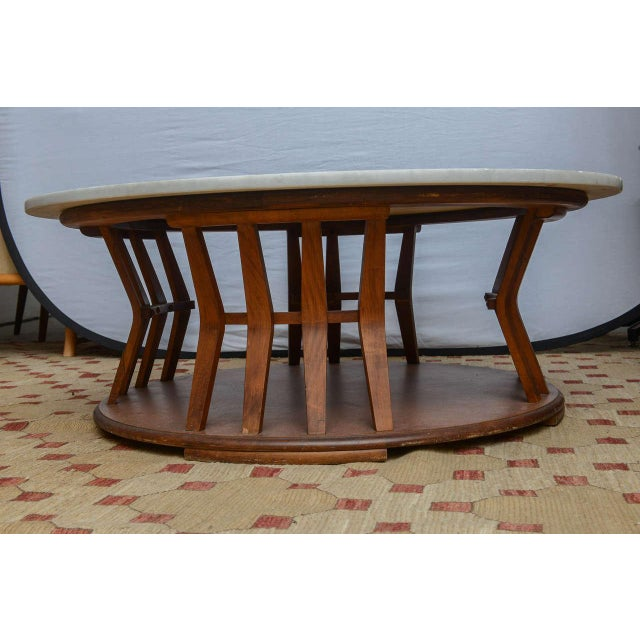 Wormley for Dunbar Style Walnut Coffee Table, 1960s, USA For Sale - Image 4 of 10