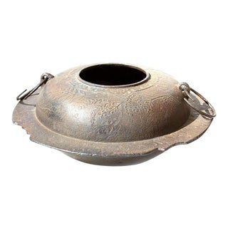 Early 20th Century Japanese Cast Iron Pot for Tea Ceremony For Sale