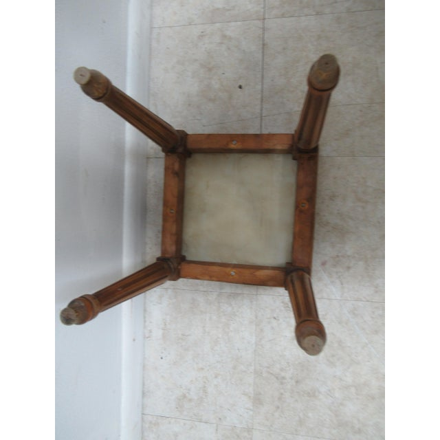 1930s French Carved Marble Top End Table For Sale - Image 11 of 12
