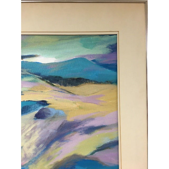 Canvas Jane Heller Vintage Mid Century Modern Abstract Expressionist Oil Painting For Sale - Image 7 of 11