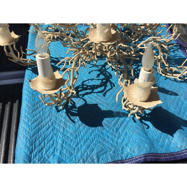 Mid-Century Modern Vintage Bruce Eicher Twig Chandelier 12 Light As-Is For Sale - Image 3 of 12