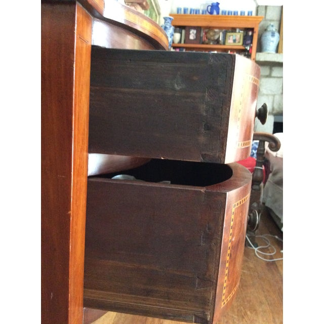 Hepplewhite Mahogany Inlay Desk For Sale - Image 9 of 13