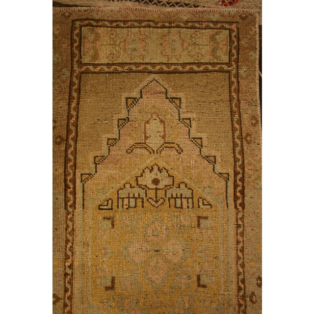 Islamic Small Vintage Area Rug - 1′9″ × 3′11″ For Sale - Image 3 of 5
