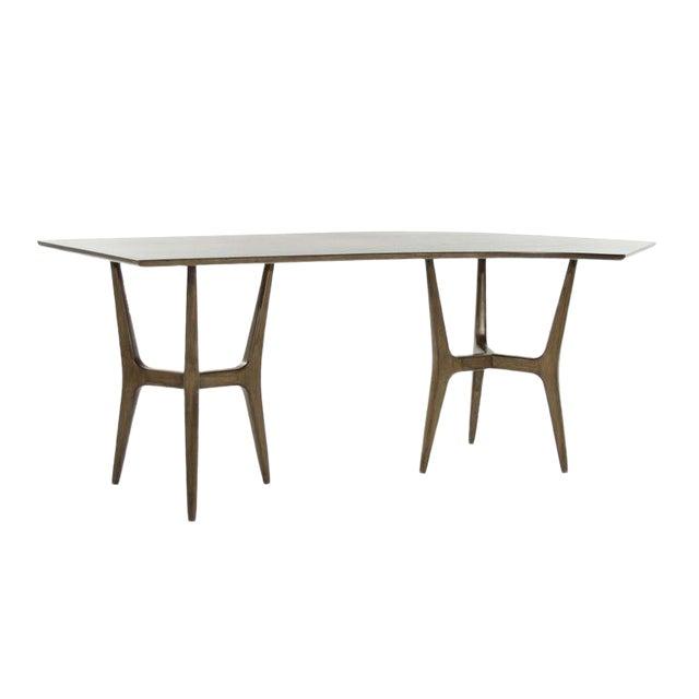 Mid-Century Modern Asymmetrical Walnut Desk For Sale