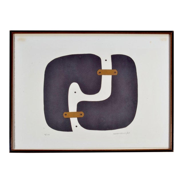 Conrad Marca-Relli Abstract Framed Collage, Circa 1969 For Sale