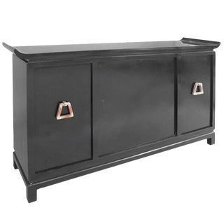 James Mont Signed Pagoda Top Bar Cabinet For Sale