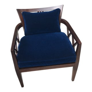 Barbara Barry for Baker Furniture Double X-Back Chair For Sale