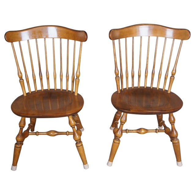 Vintage Nicholes & Stone Dining Chairs-a Pair For Sale - Image 11 of 11