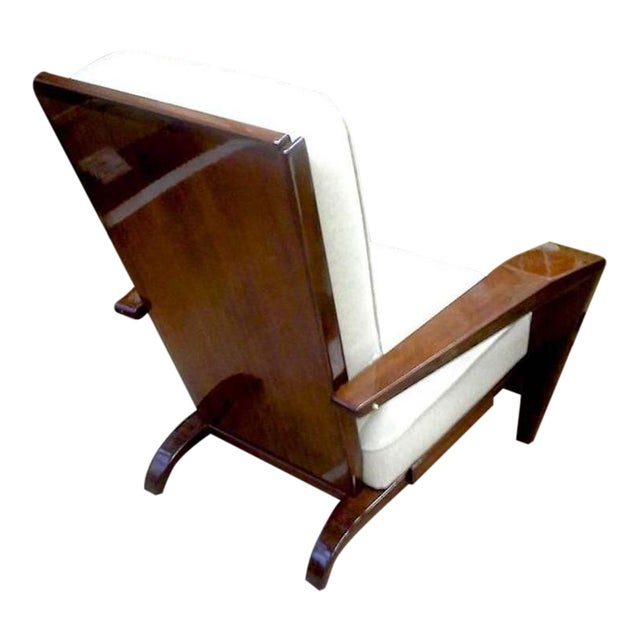 Andre Sornay Comfortable Pair of Lounge Chair Newly Restored in Neutral Cloth.