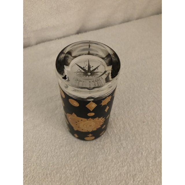 Fred Press Atomic Starburst/Eclipse Pattern Highball Glass For Sale In Wichita - Image 6 of 7