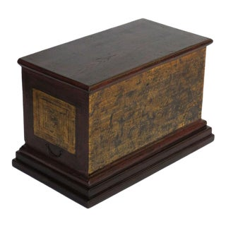 20th Century Asian Antique Painted Scroll Box For Sale