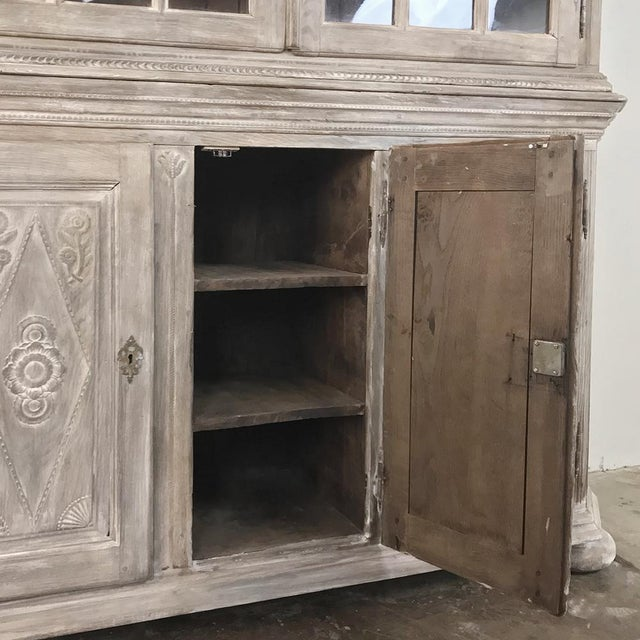 19th Century Country French Rustic Whitewashed Bookcase ~ Cabinet For Sale - Image 11 of 13