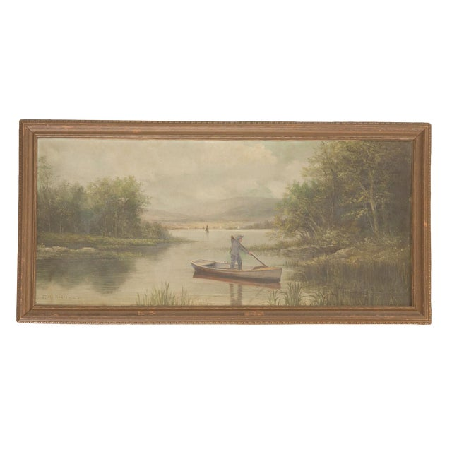 Antique Seascape Portait Painting For Sale