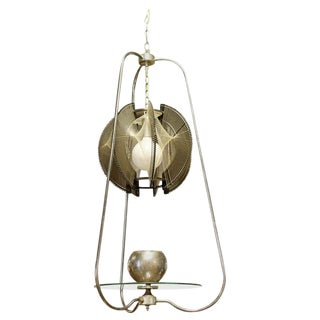 Mid Century Modern String Wire Art Swag Chrome Chandelier Light Fixture 1960s For Sale