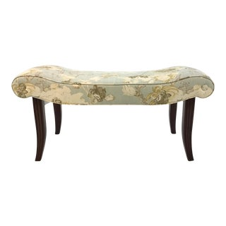 Transitional Hickory Chair Floral Calla Bench For Sale