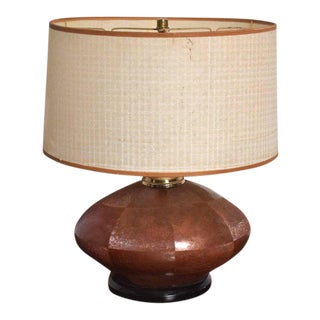 Mid-Century Modern Copper & Brass Table Lamp For Sale