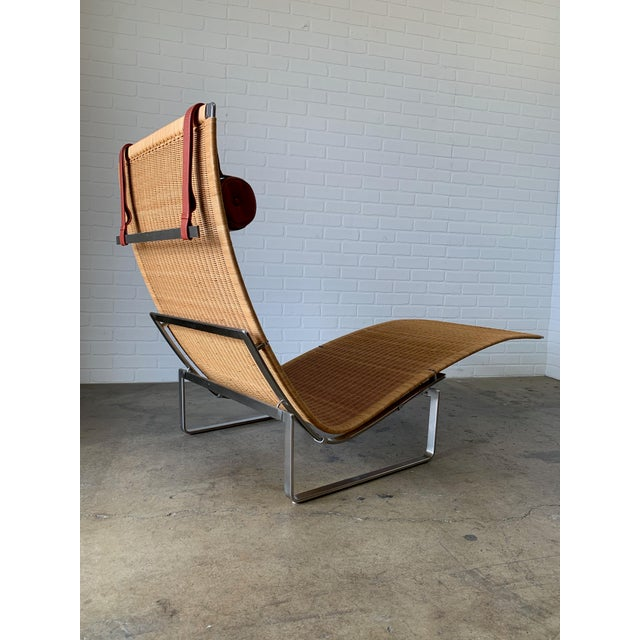 1990s Poul Kjærholm Pk 24 Chaise Lounge With Wicker Seat for Fritz Hansen For Sale - Image 5 of 12