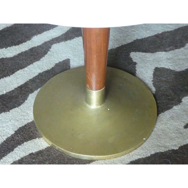 Silver Rare Mid-Century Pepe Mendoza Marble Top Side Table For Sale - Image 8 of 13