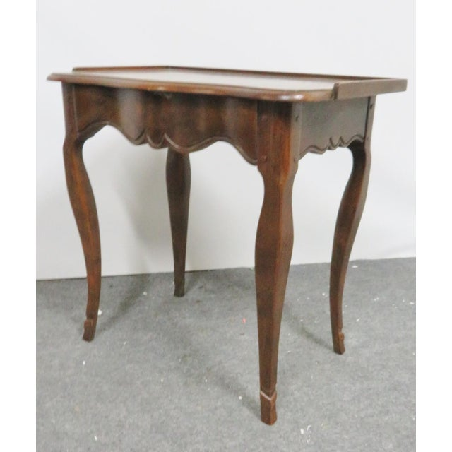 Louis XV Baker Walnut Nightstand For Sale - Image 9 of 9
