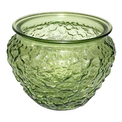 Mid-Century Modern Green Glass Vase For Sale