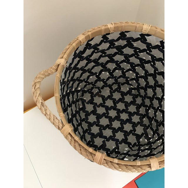 Anthropologie Starry Night Woven Basket - Image 8 of 9