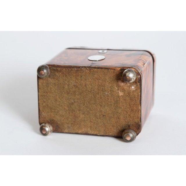 Early 19th Century English Regency Tortoiseshell Tea Caddy For Sale - Image 10 of 11