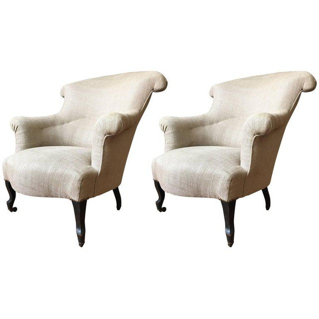 Pair of Scrolled Napoleon III Armchairs - Image 10 of 10