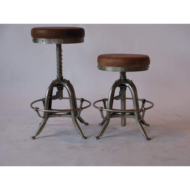These industrial stools are reproduced to model a traditional European medical stool. Seat height is adjustable from 20-29...