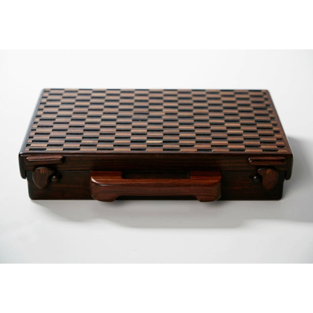 Exquisitely crafted slim decorative briefcase designed by Don Shoemaker for Señal of Mexico. Taking advantage of the...