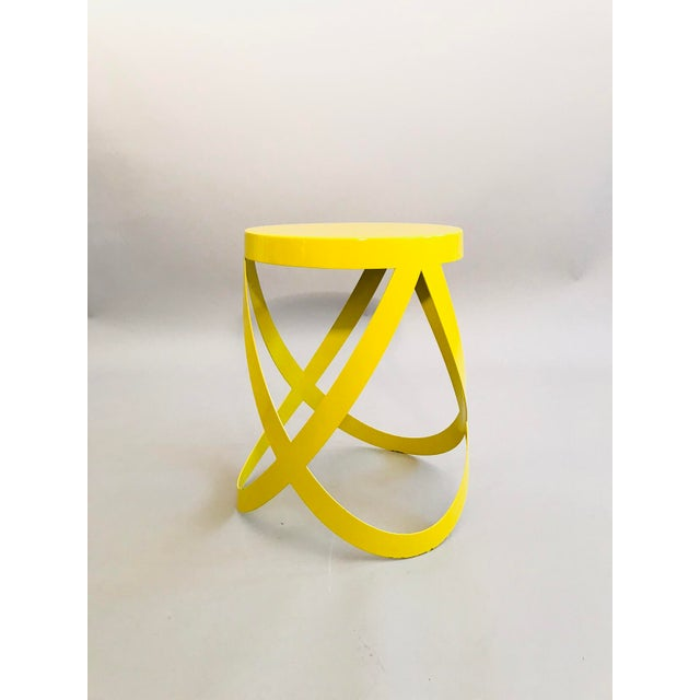 Yellow Nendo Ribbon Stool For Sale - Image 8 of 8