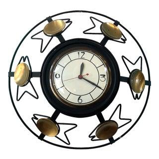 Mid Century Atomic Wall Clock