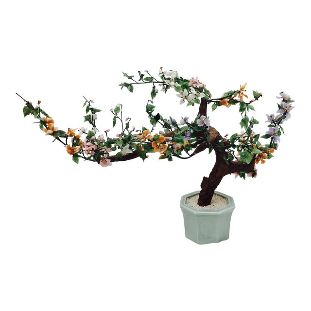 Vintage Mixed Stone Bonsai Tree Sculpture - Image 1 of 11