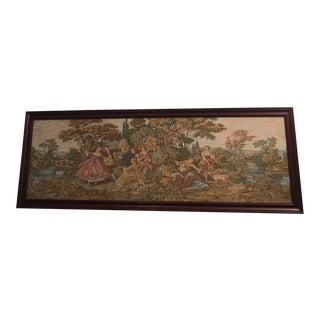 Vintage Parisian Framed Tapestry For Sale