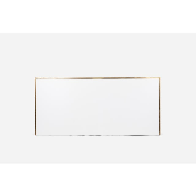 Paul McCobb Paul McCobb King-Size Brass Frame Headboard For Sale - Image 4 of 5