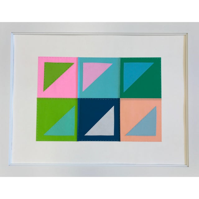Natasha Mistry Contemporary Geometric Patchwork Collage For Sale - Image 12 of 13