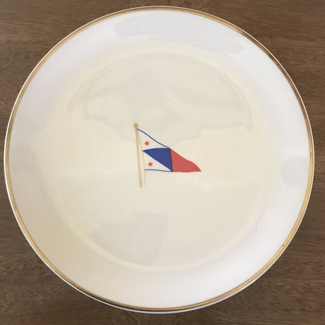 Listing is for a set of 6 plates from Syracuse China. I believe they feature the flag of a Corinthian Yacht Club, but I...