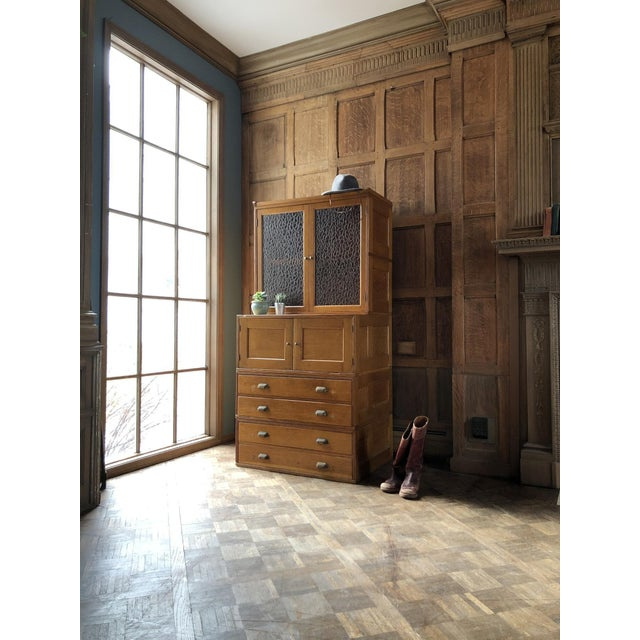 """Beautiful oak stacking cabinet. Made by """"Yawman And Erbe Mfg. Co. Rochester, New York, U.S.A."""" Unique piece made up of..."""