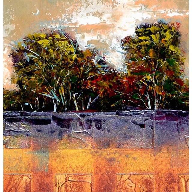 Abstract Tree Line Painting For Sale - Image 5 of 6