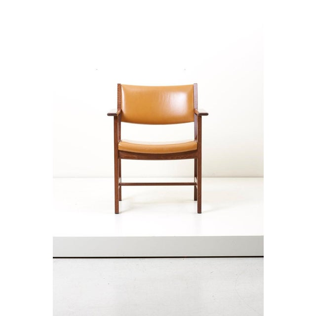 Set of Ten Ge 1960s Armchairs in Leather by Hans Wegner for by Getama, Denmark For Sale - Image 10 of 13