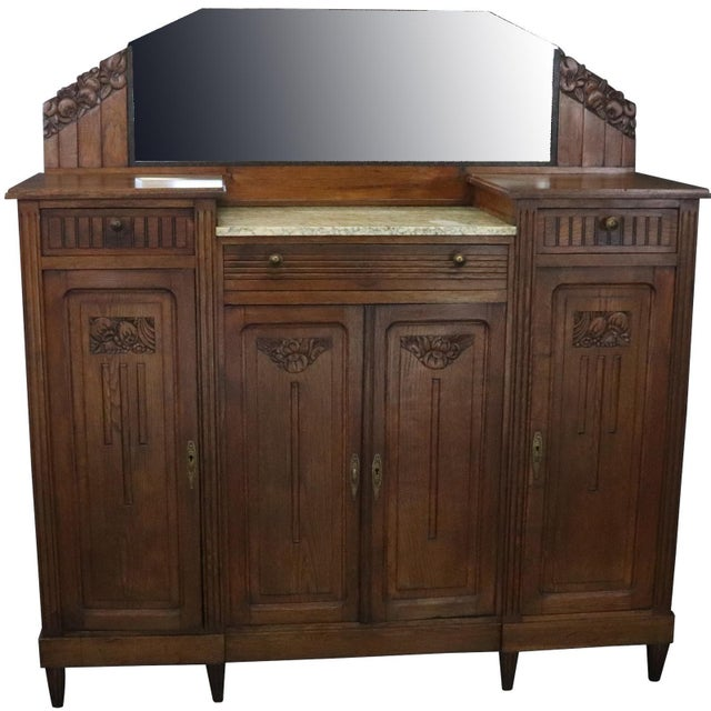 1920 Art Deco Mid Century Modern French Server For Sale - Image 11 of 11