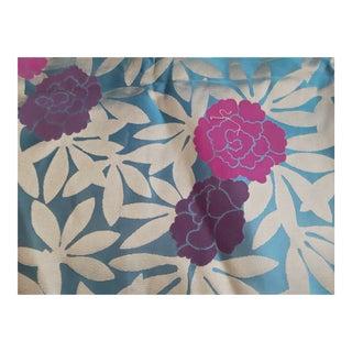 Osborne and Little Peonies Raspberry, Purple, Turqoise and Metallic Fabric-2+ Yds. For Sale