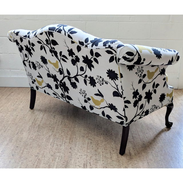 1940s Antique Queen Anne Sofa With Ball and Claw Feet - Restored For Sale - Image 5 of 11