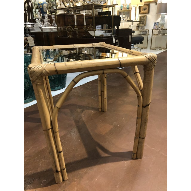 Glass Top Bamboo Side Tables - a Pair For Sale In Atlanta - Image 6 of 13