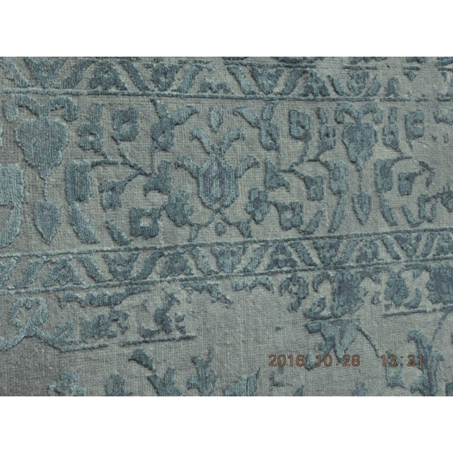 Blue & Gray Hand Knotted Indian Rug - 8′ × 10′ - Image 7 of 9