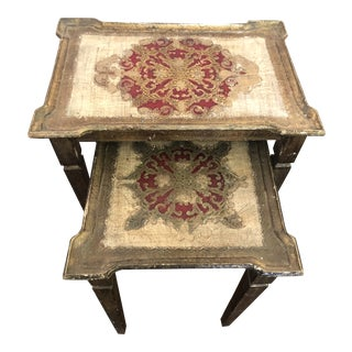 1930's Florentine Nesting Tables - a Pair For Sale
