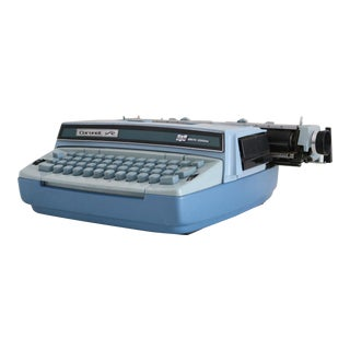 Blue Electric Coronet Typewriter For Sale