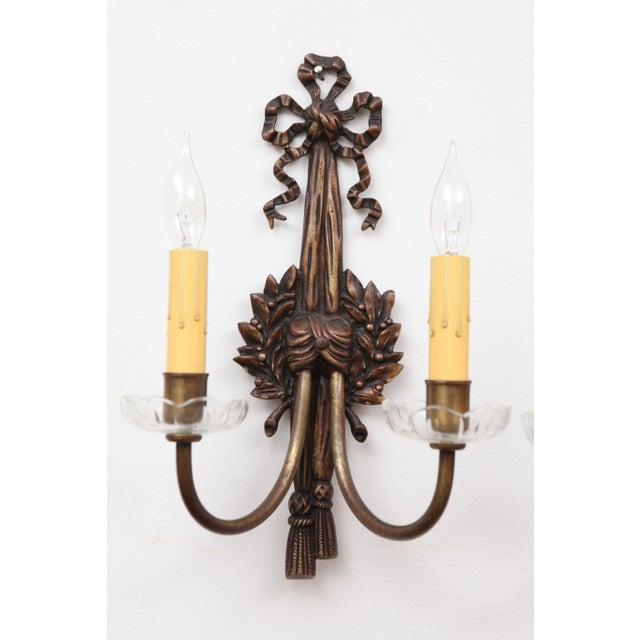 French Bronze Art Nouveau Sconces - A Pair - Image 3 of 8